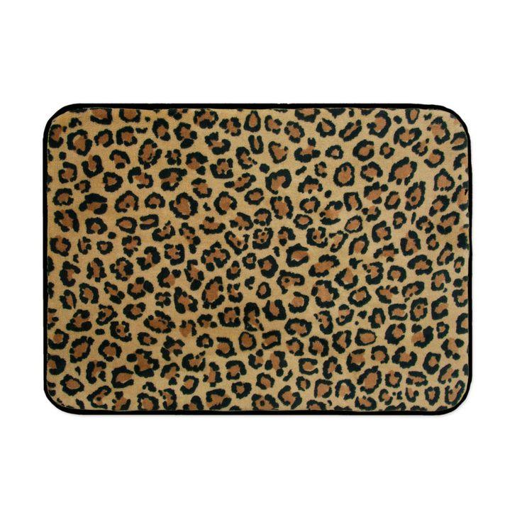 Leopard print memory foam bath mat 2017 2018 best cars for Leopard print bathroom ideas