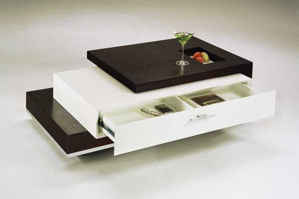 Modern Coffee Table With Drawer Multipurpose Furniture Pinterest