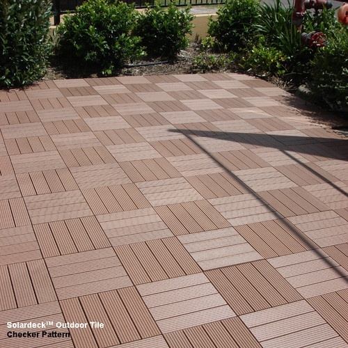 Gratedex outdoor floor system for outdoor living on decks
