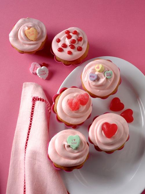 Valentine's Double Vanilla Cupcakes | Favorite Recipes | Pinterest