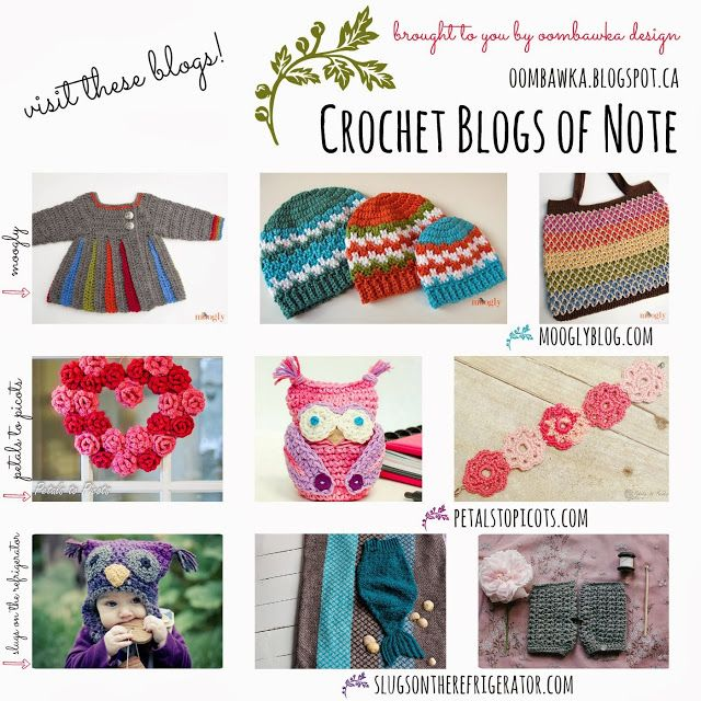 Crochet Blogs : Crochet Blogs of Note Free crocheted patterns Pinterest