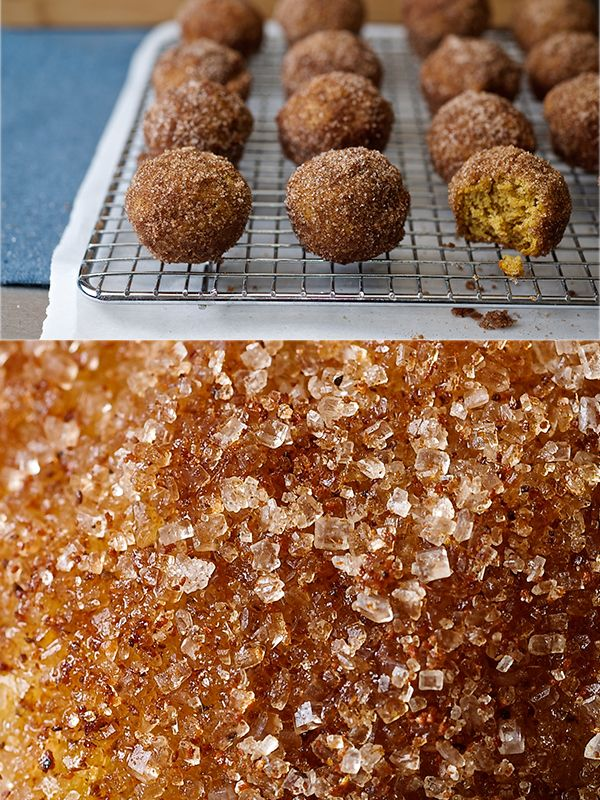 Baked Pumpkin Donut Holes | Let's Eat | Pinterest