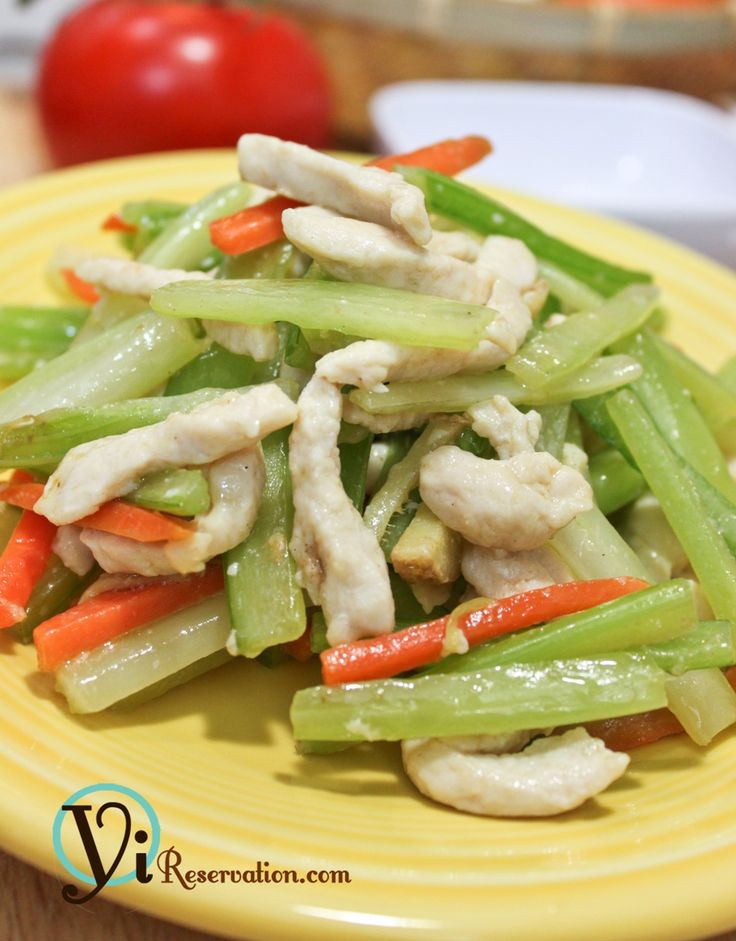 ... cook Healthy Quick Stir-Fry – Chicken with Celery | Yi Reservation