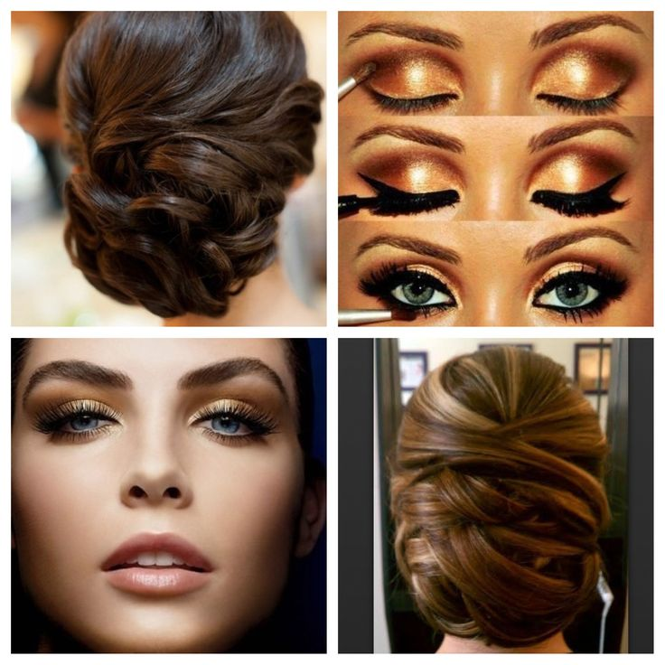 Wedding Makeup Gold : Black and Gold wedding hair and makeup Happily Ever ...