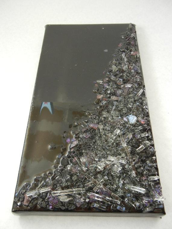 Glass resin wall art etsy creative design pinterest for Resin wall art