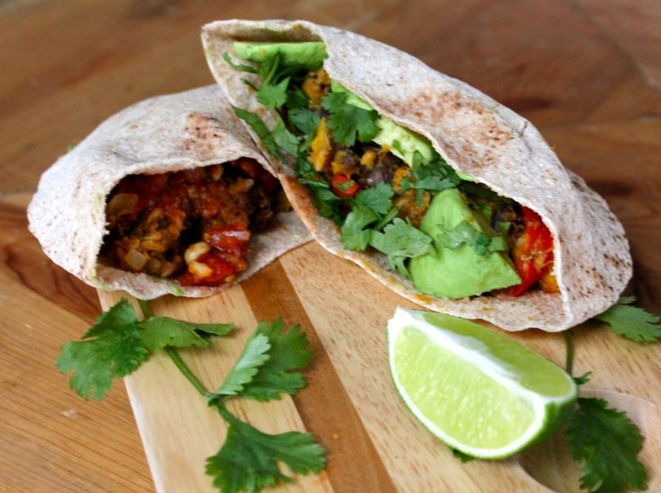 butternut squash and black bean burritos. sounds like something right ...
