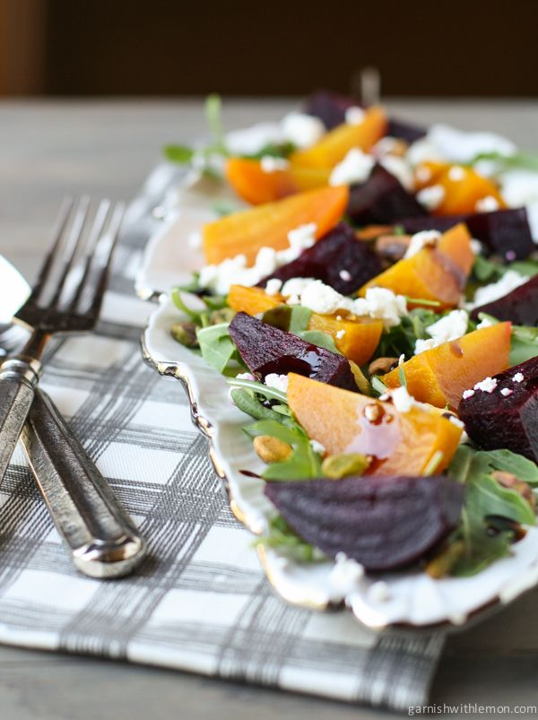 Roasted Beet and Arugula Salad with Pistachios and Goat Cheese | Reci ...