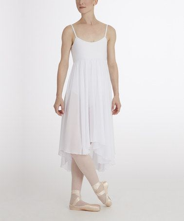 find on  zulily  White Camisole Empire Dress by Capezio  zulilyfindsWhite Camisole Dress