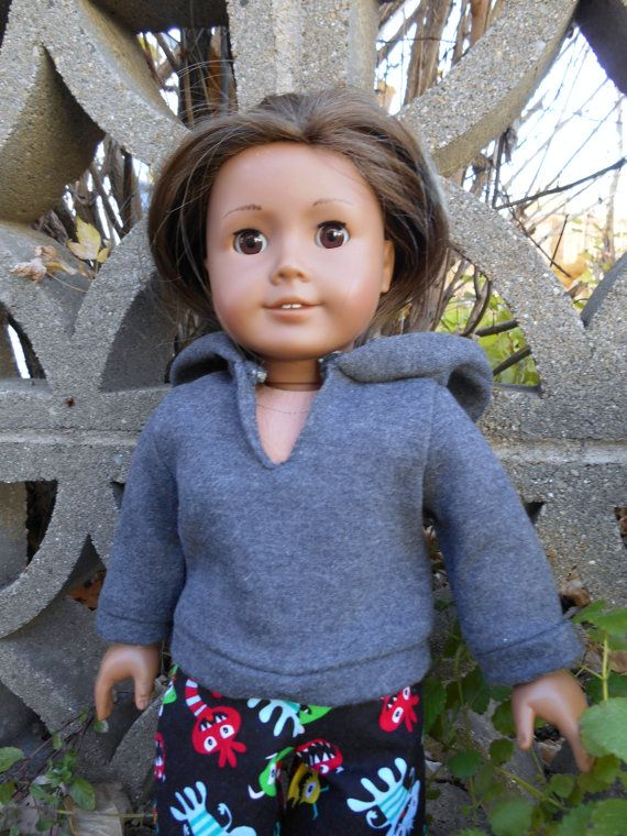 18 Inch Boy Doll Clothes Steel Gray Hooded by DonnaDesigned, $10.00 ...
