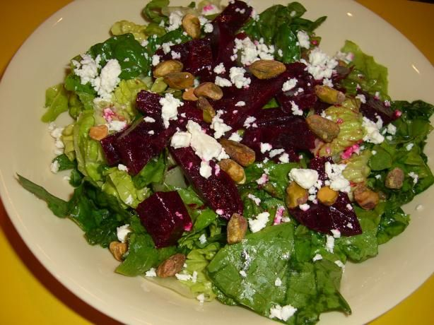 Beet Salad With Pistachios and Feta Cheese ..... SO GOOD!!