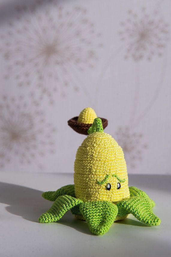 Crochet Plants Vs Zombies Patterns : Crochet Pattern of Kernel-pult from Plants vs Zombies (Amigurumi ...