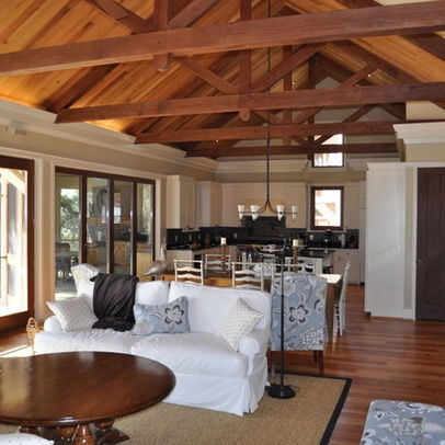 Exposed beams vaulted ceiling interiors pinterest for Vaulted ceiling with exposed beams