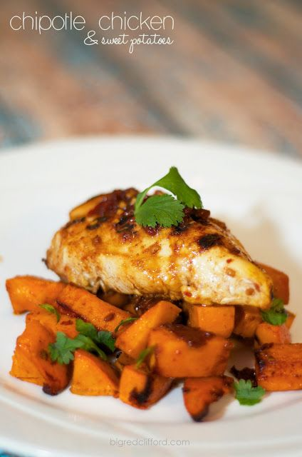 Spiced Chipotle Honey Chicken Breasts With Sweet Potatoes ...