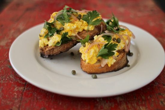 An Early Spring Lunch: Deviled Egg Salad With Parsley