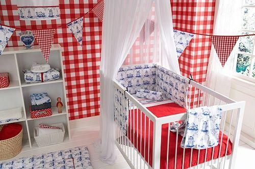 Behang Babykamer Rood : Holland Decorations