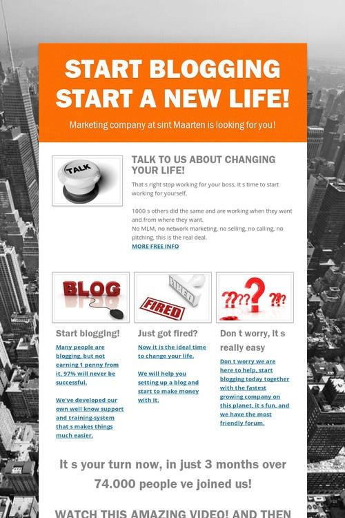 start a new life essay
