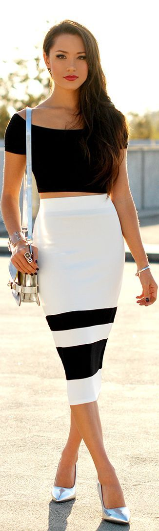Black & white with metallic
