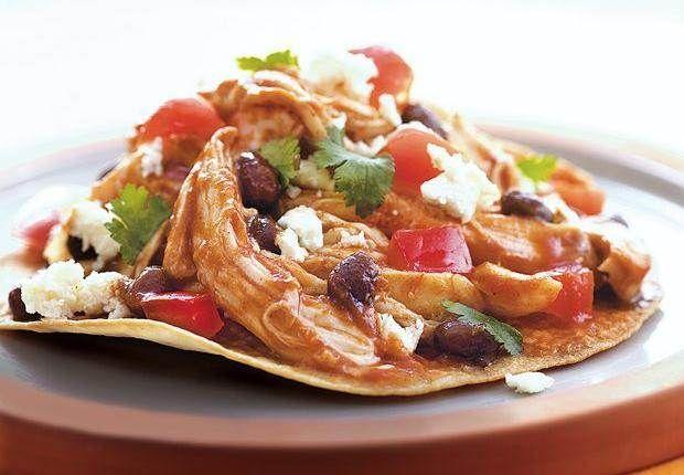 Chicken and Black Bean Tostadas | Recipe