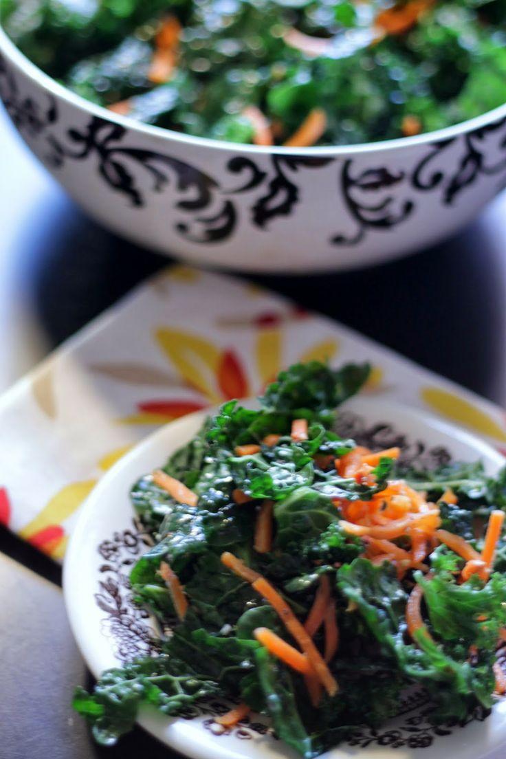 Brunch N' Cupcakes: {Sesame Kale Salad} | greens&more | Pinterest