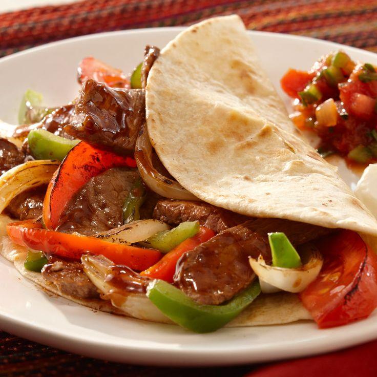 and fajitas anytime. For Steak Fajitas, sauté strips of steak ...