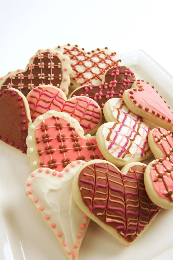 I Heart You / Valentines Day Sugar Cookies with Buttercream Frosting.