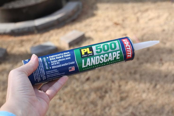 Landscaping Block Glue : Fire pit communing with nature