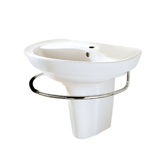... 0268.144.020 Ravenna Wall-Mount Pedestal Sink with Center Hole, White