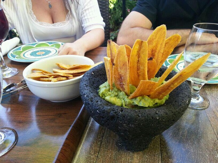 fried banana chips and guacamole | Cooking- Appetizers | Pinterest