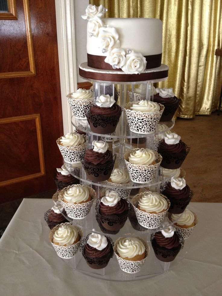 Chocolate brown wedding Cupcakes   Chocolate brown and...   Pinterest