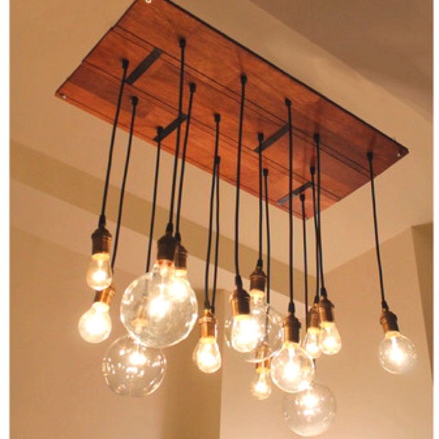 edison light chandelier new home decor pinterest. Black Bedroom Furniture Sets. Home Design Ideas