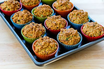 for Savory Whole Wheat Zucchini Muffins with Feta, Parmesan, and Green ...