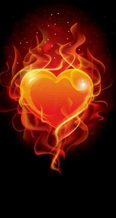 Fiery heart hearts afire pinterest