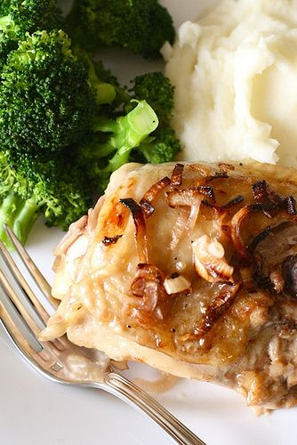 Roast Chicken with Caramelized Shallots Roast Chicken with Caramelized ...
