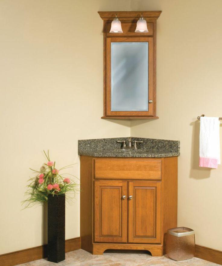 Breathtaking Rustic Corner Bathroom Vanity With Granite