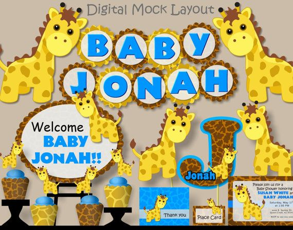 giraffe baby shower theme pink or blue do not by bcpaperdesigns