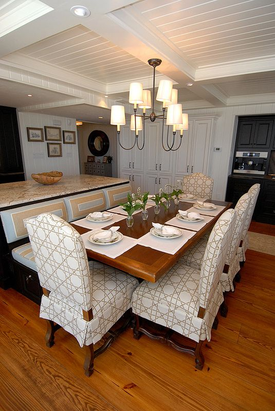 dining kitchen love how island is made into booth for dining table