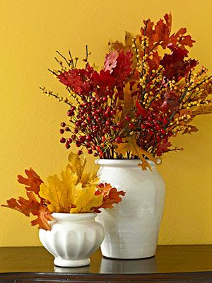 Fall Autumn: Crafty nature inspired decoration http://inspirationforhome.blogspot.co.uk/2012/10/fall-autumn-crafty-nature-inspired.html