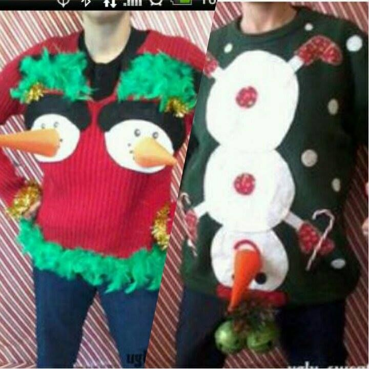 His and her christmas sweaters