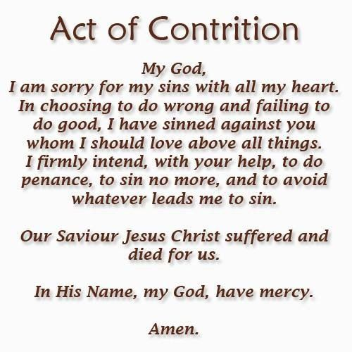 Influential image with regard to act of contrition prayer printable
