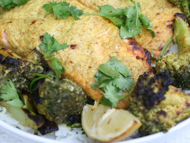 Tandoori Charred Salmon and Vegetables - Kerry never dissapoints