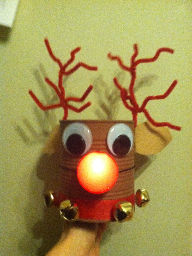 Tin can reindeer christmas crafts for kids pinterest for Christmas crafts out of tin cans