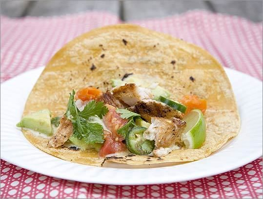 Recipe for fish tacos with charred tomato salsa and avocado - The ...