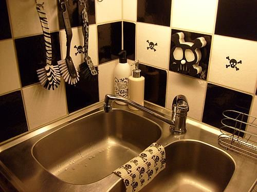 Skull Bathroom Sink : Skull Kitchen Skullies Pinterest