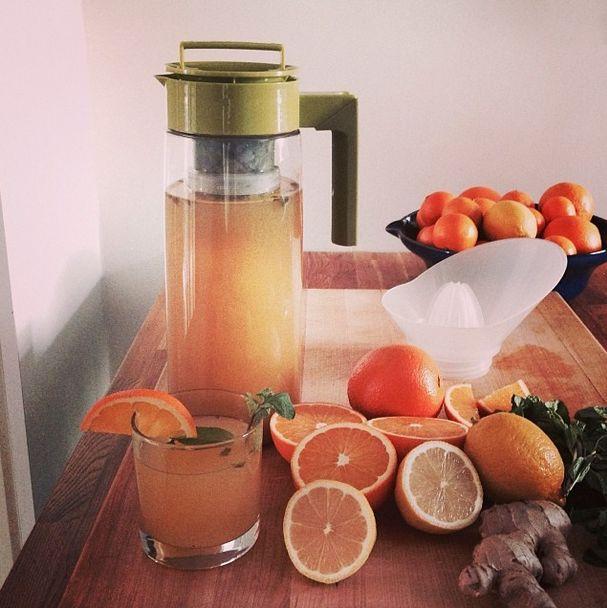 Citrus & Mint Iced Green Tea Recipe | Sweet Satisfaction | Pinterest