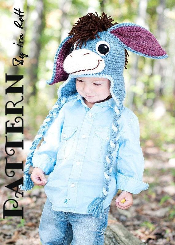 crochet donkey hat pdf crochet pattern