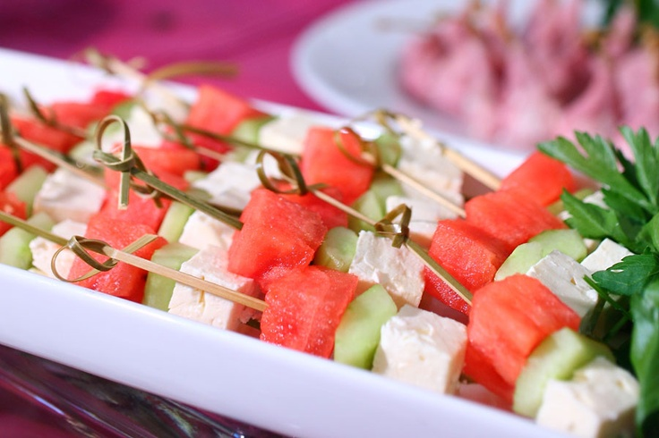 watermelon and feta skewers tomato watermelon and feta skewers with ...