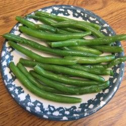 Garlic Green Beans. Sauteed in olive oil and garlic.