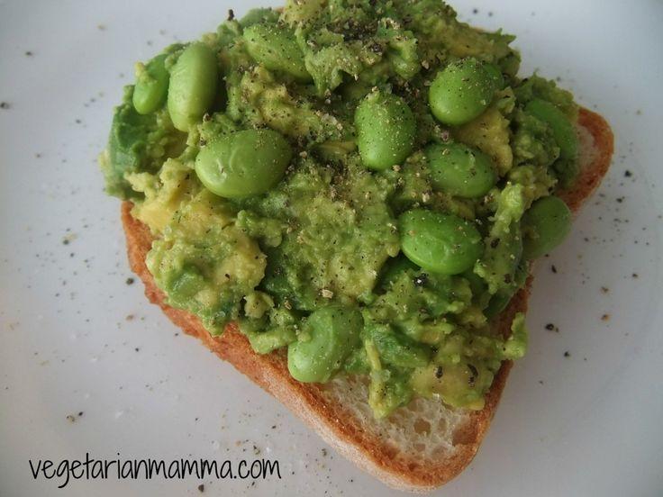 Smashed Avocado Edamame Sandwich – #glutenfree #vegan | Recipe