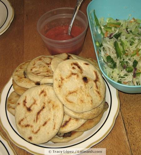 pupusas! i LOVE them. Mexican food>>>