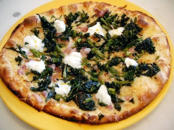 broccoli rabe, and chili oil at Santa Monica's Pizza Antica. A roasted ...